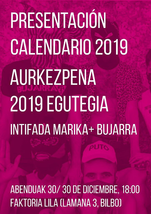 Presentación calendario 2019 egutegi aurkezpena