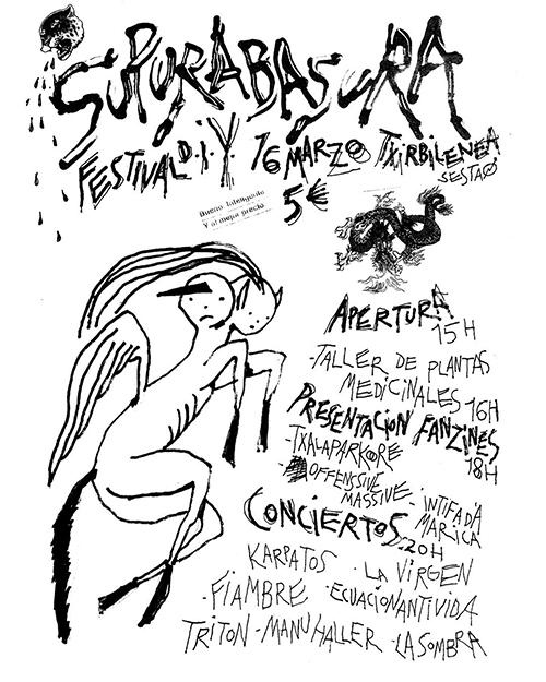 Cartel de Supurabasura, el 16 de marzo de 2019 en Txirbilenea