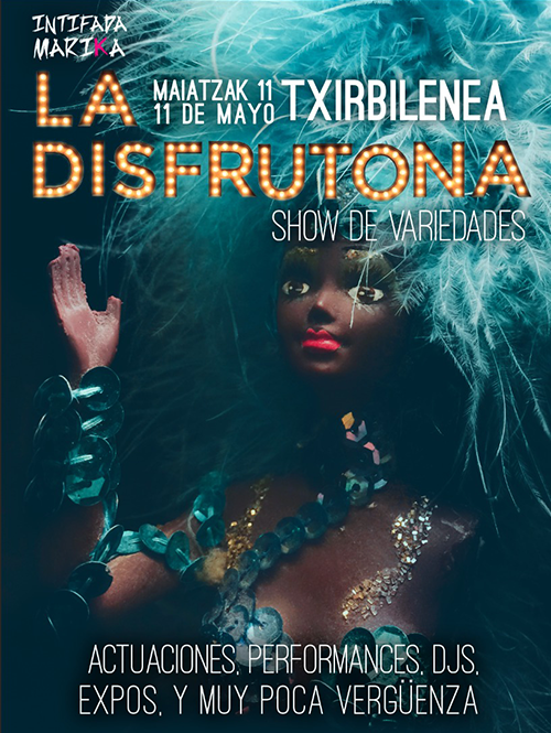 Cartel La Disfrutona show de variedades