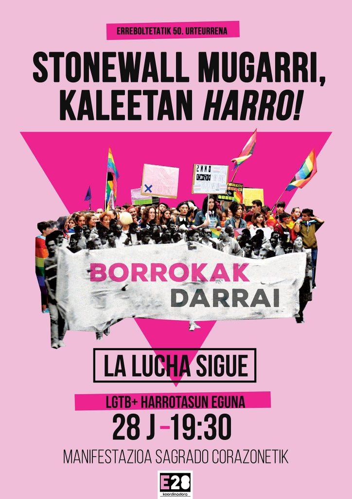 E28 manifestazioa cartel 19:30 Plaza Sagrado Corazón