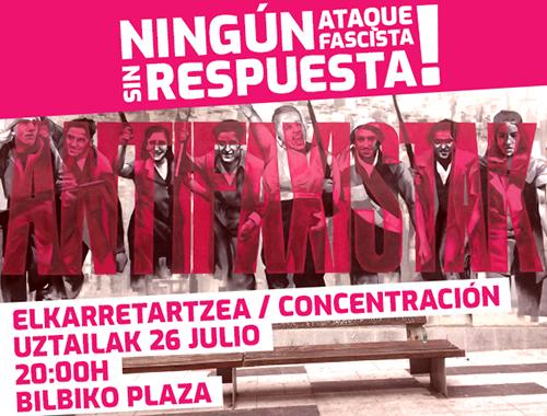 Concentración Bilbao la Vieja 26 julio 2019