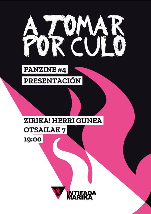 presentación fanzine 7 febrero de 2020 a las 19 horas en zirika