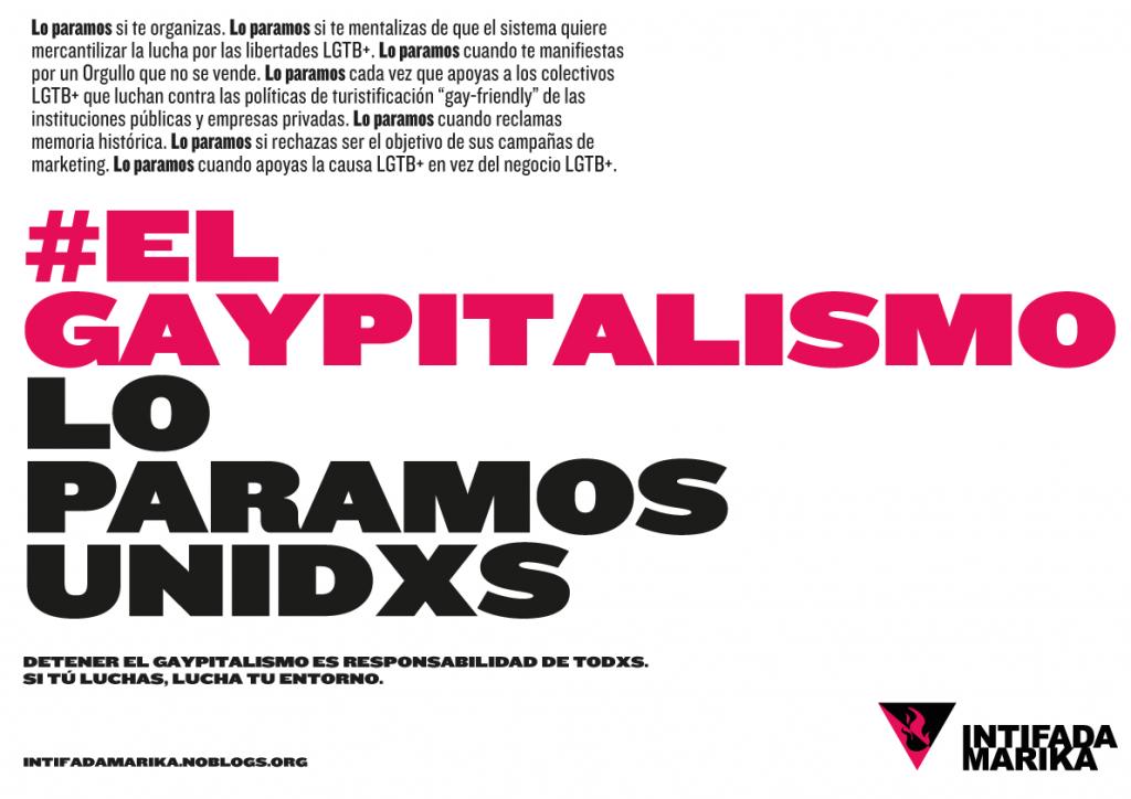 Cartel el gaypitalismo lo paramos unides