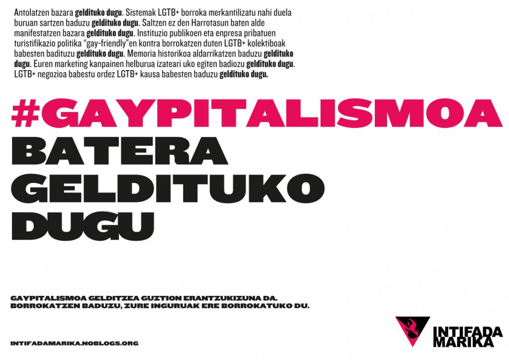 Kartela gaypitalismoa batera geldituko dugu