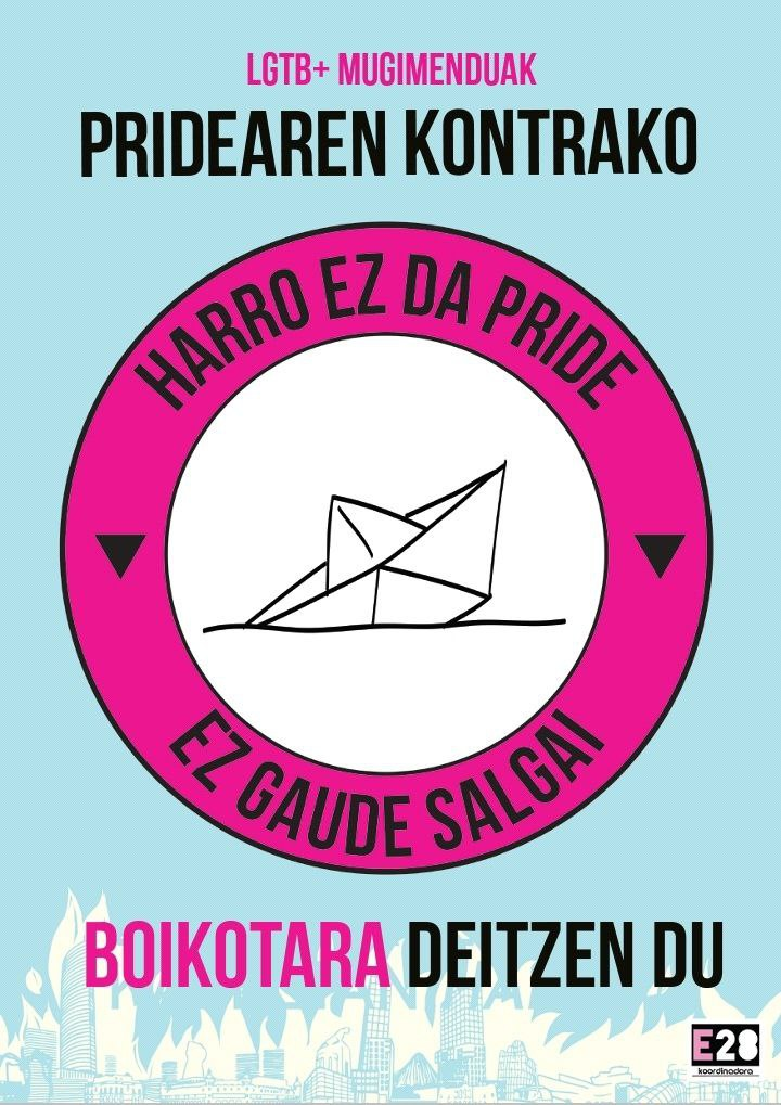 Cartel boikot Pride Bilbao 2021